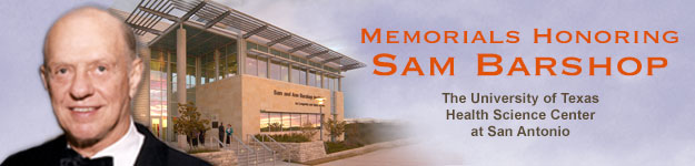Sam Barshop Memorial banner