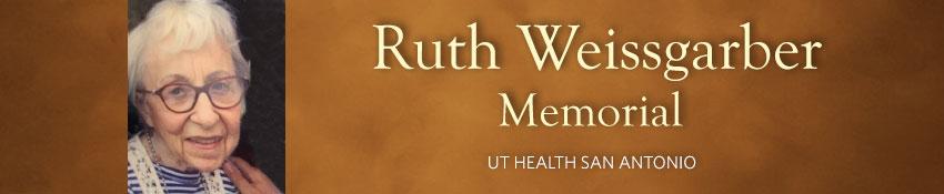 Ruth Weissgarber memorial