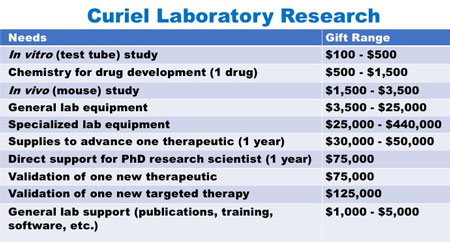 Curiel Laboratory Research
