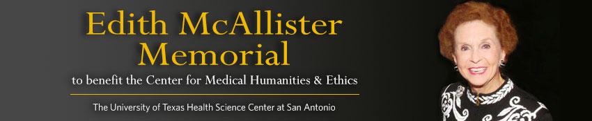 Edith McAllister Memorial banner