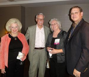 Jill Dodge; Bill Dodge, DDS, Dean ad interim; Kathy Scott; Ray Scott, DDS 1983, President-elect of the Dental School Alumni Association