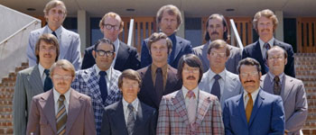 The Class of 1974, the dental school's first graduates, are: (front row from left) George Murphy, Paulus Hofheinz, Rick Montgomery, Mike Boland; (middle row from left) Denver Lackorn, Felix Majul, Craig Wright, Jim Clark, Doug Tilley; (back row from left)