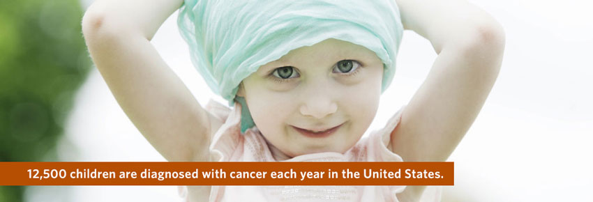 12,500 children are diagnosed with cancer each year in the United States.