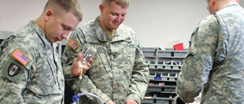 Military personnel in EMT class