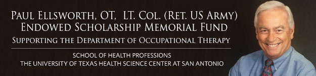 PAUL ELLSWORTH ENDOWED SCHOLARSHIP IN OCCUPATIONAL THERAPY banner