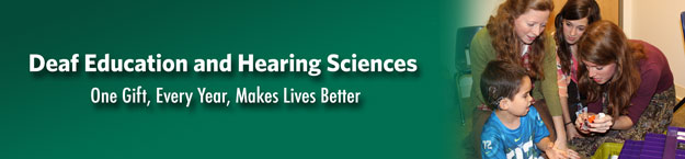 Deaf Education and Hearing Science banner