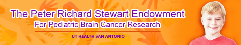 The Peter Richard Stewart Endowment for Pediatric Brain Cancer Research memorial bannner