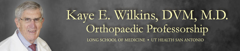 Kaye E. Wilkins, DVM, M.D. Orthopaedic Professorship
