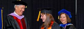 Dr. Kalkwarf and Dean Breslin at graduation ceremony