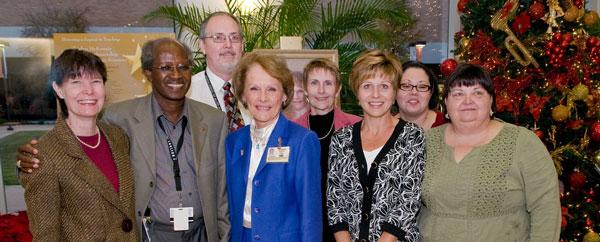 Shirlyn McKenzie with Nursing School collegues
