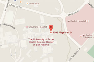 Google Map of the UT Health Science Center San Antonio